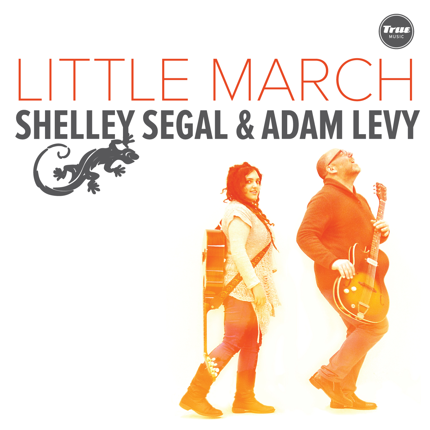 The cover art for 'Little March'. It's a picture of Adam and I both with our guitars.